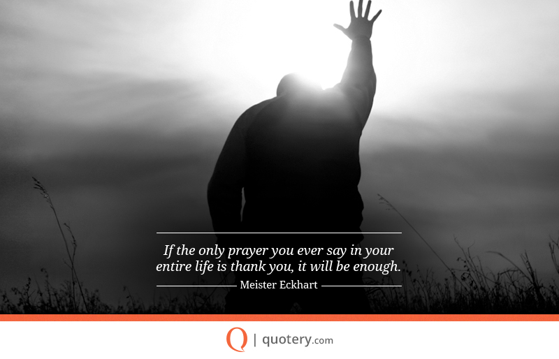 Is the Only Prayer You Say Thank You Quote If
