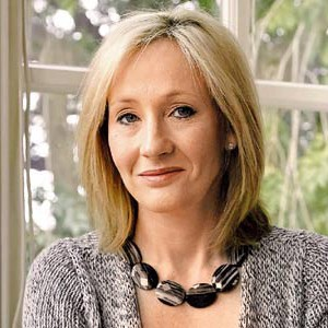 Photograph of J. K. Rowling.
