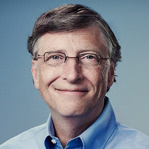 Photograph of Bill Gates.