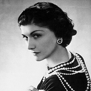 Photograph of Coco Chanel.
