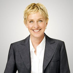 Photograph of Ellen DeGeneres.
