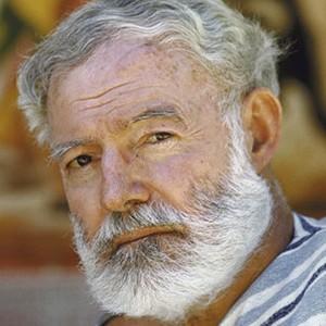 Photograph of Ernest Hemingway.