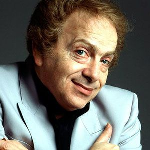 Photograph of Jackie Mason.