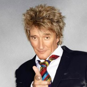 Photograph of Rod Stewart.