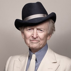 A photograph of Tom Wolfe.