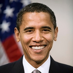 A photograph of Barack Obama.
