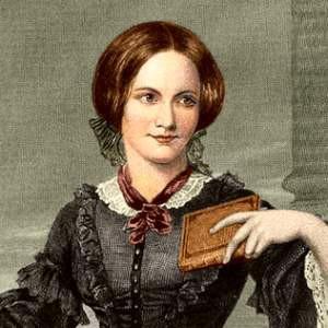 A photograph of Charlotte Brontë.