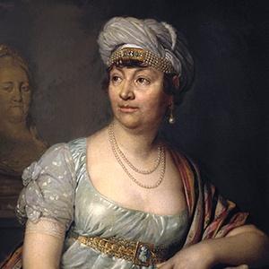 A photograph of Germaine de Staël.