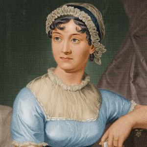 A photograph of Jane Austen.