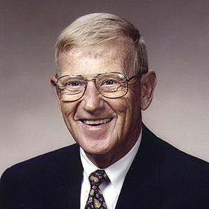 A photograph of Lou Holtz.