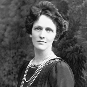 A photograph of Nancy Astor.