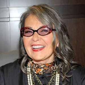 A photograph of Roseanne Barr.