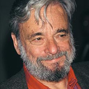 A photograph of Stephen Sondheim.