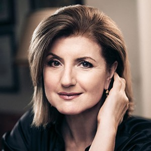 A photograph of Arianna Huffington.