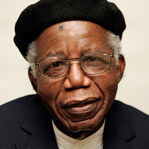 A photograph of Chinua Achebe.