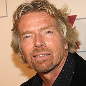 A photograph of Richard Branson.