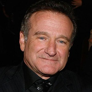 A photograph of Robin Williams.