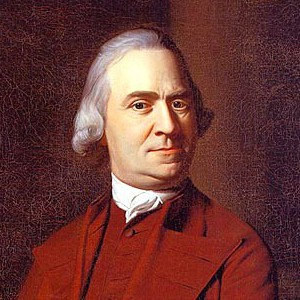 A photograph of Samuel Adams.