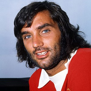 A photograph of George Best.