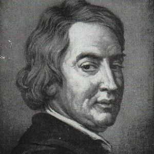 A photograph of John Dryden.