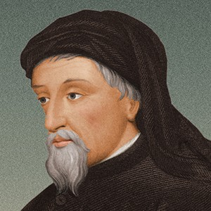 A photograph of Geoffrey Chaucer.