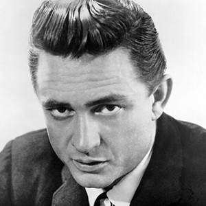 A photograph of Johnny Cash.