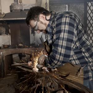 Work of a blacksmith.