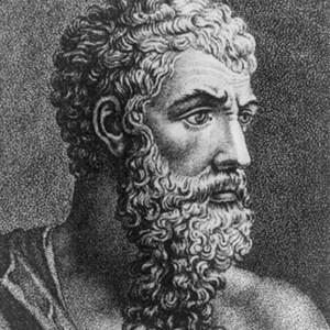 A photograph of Aristophanes.