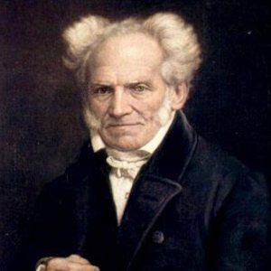 A photograph of Arthur Schopenhauer.