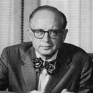 A photograph of Daniel J. Boorstin.