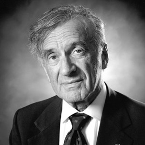 A photograph of Elie Wiesel.
