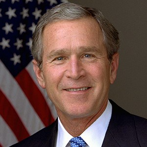 A photograph of George W. Bush.