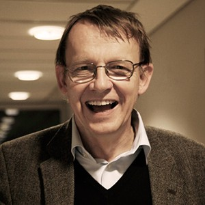 A photograph of Hans Rosling.