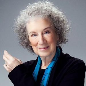 A photograph of Margaret Atwood.