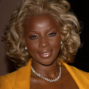 A photograph of Mary J. Blige.