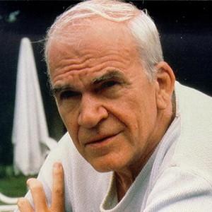 A photograph of Milan Kundera.