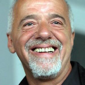 A photograph of Paulo Coelho.