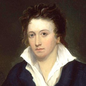 A photograph of Percy Bysshe Shelley.