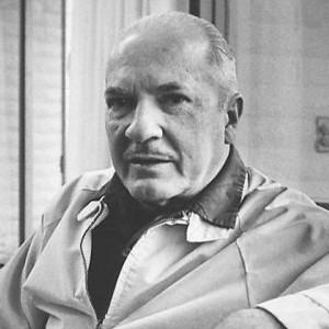 A photograph of Robert A. Heinlein.