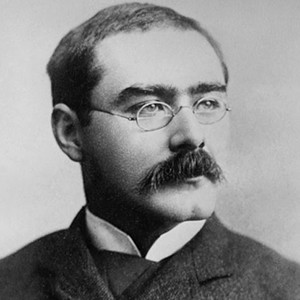 A photograph of Rudyard Kipling.