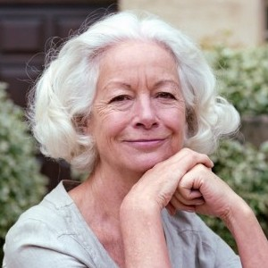 A photograph of Scilla Elworthy.