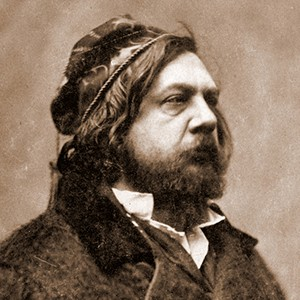 A photograph of Théophile Gautier.
