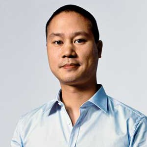 A photograph of Tony Hsieh.