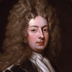 A photograph of William Congreve.