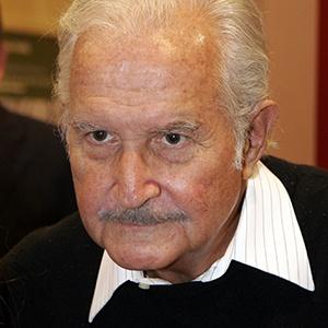 A photograph of Carlos Fuentes.