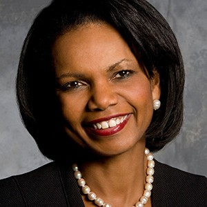 A photograph of Condoleezza Rice.
