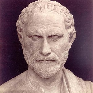 A photograph of Demosthenes.
