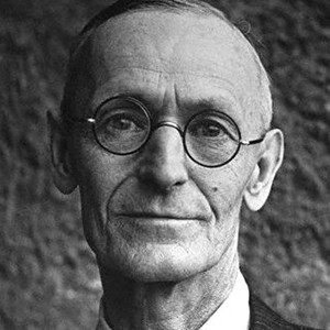 A photograph of Herman Hesse.
