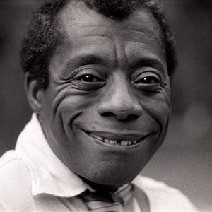 A photograph of James Baldwin.