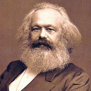 A photograph of Karl Marx.